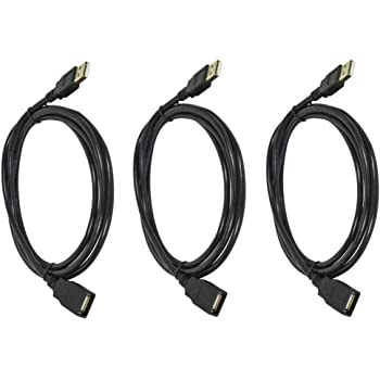 White 6 Feet Gold Plated C/&E 2 Pack USB 2.0 A Male to A Female Extension 28//24AWG Cable