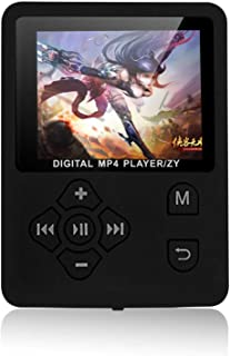Ftiqe MP3 MP4 Digital Player 1.8 Inches Color Screen Music Player Lossless Audio Video Player Support E-Book FM Radio Voic...