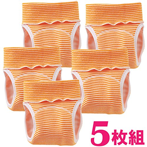 (チャックルベビー) chuckle BABY パンツ式おむつカバー のびのびストレッチパンツ 【 C4070 5枚セット 】 オレンジ 70〜95cm C4070V-00-60
