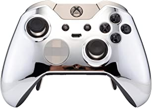 eXtremeRate Custom Chrome Silver Replacement Front Shell for Xbox One Elite Controller