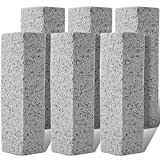 Pumice Stone for Toilet Cleaning Bowl Stick, Refresh Toilet within 1 Minute, 6 New Ways to Use a Pumice Stone, Remove Water Rings Stains on Toilets Bowls, Bathtubs, Pool Shower Tiles, 6 Count