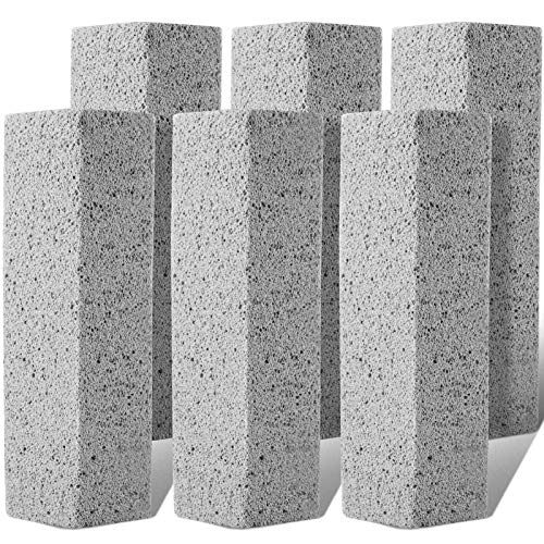 6 PCS Pumice Stone Toilet Bowl Cleaner, Cost-Effective Pumice Sticks for Toilet Cleaning, Remove Toilet Rings Hard Water Stains on Toilet Bowls, Swimming Pool Shower Tiles