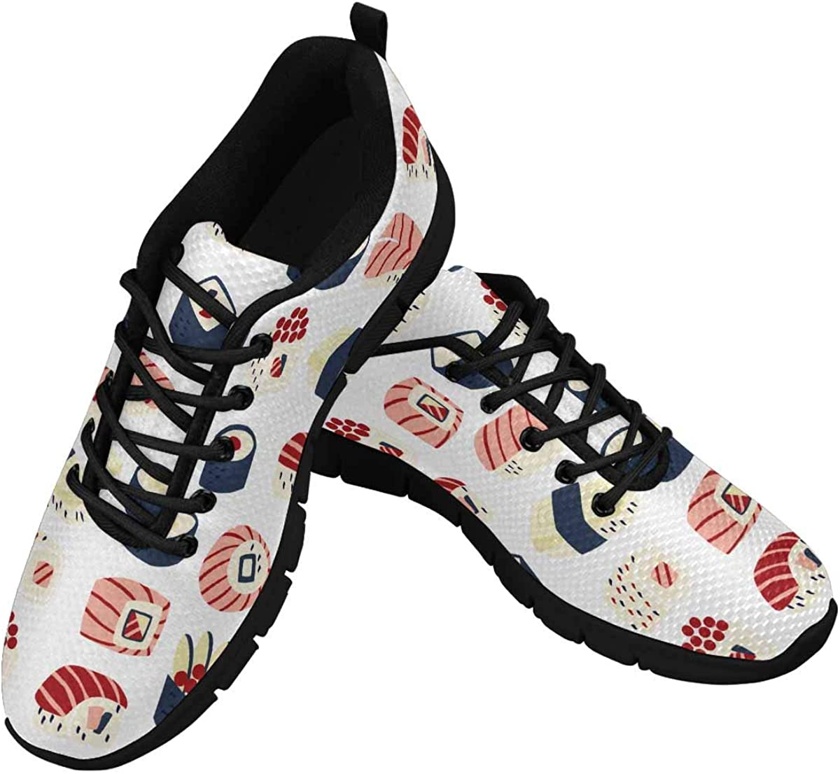 InterestPrint Traditional Japanese Food Women's Athletic Mesh Breathable Casual Sneaker