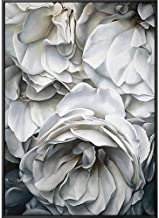 SANSNMI 100% Hand Painted Super Realism White Flowers Petals Art Oil Painting On Canvas Wall Art Wall Painting For Live Ro...