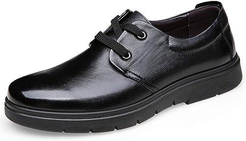 JIALUN-des Chaussures Oxford pour Hommes d'affaires Décontracté Décontracté Fashion Gentlehommes Trend Lace Up Toe Chaussures Formelles (Couleur   Noir, Taille   39 EU)