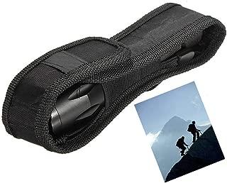 skonhed Flashlight Bag Mini Nylon Flashlight Storage Belt Holster Cover Pouch