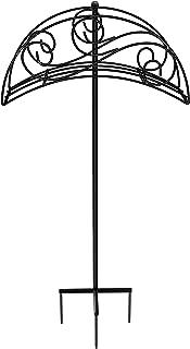 Uuuda Garden Decorative Hose Holder Detachable Heavy Duty Metal Hose Stand,Black