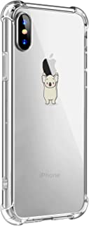 Oihxse Compatible with iPhone XS Max Case Clear [Air Cushion] Shockproof TPU Bumper Back Cover, Ultra Thin Slim Fit Cute Design Soft Silicone Crystal Gel Transparent Phone Shell Skin-Koala