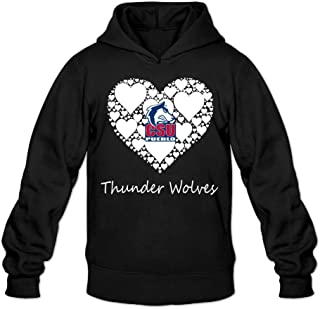 CYANY CSU Colorado State University Pueblo T Wolves Lace Heart Women's Fashion Hoodies Hooded Sweatshirt Black