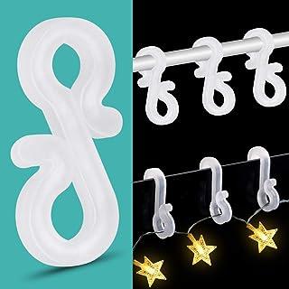 50 St/ücke LED Dachrinnenhaken Jubil/äumsdekoration Plastik Dachrinnenhaken Lichterkette Dachrinnenhaken f/ür Weihnachten Geburtstag Dachrinnenhaken Party