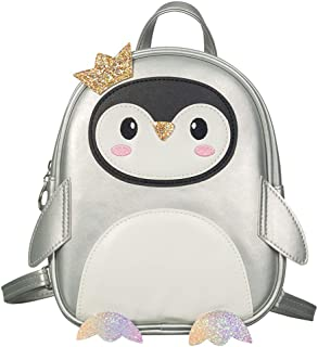 Hkiss Gilrs Fashion Penguin Backpack Toddler 3D Animal Casual Day-pack Pu Leather Preschool Casual Shoulder Backpack with ...