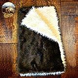 Premium Quality Faux Fur Buffalo/Thick Mongolian Sheepskin Throw Blanket/Reversible/Mountain Bear Skin/Shaggy Sheepskin Plush Faux Fur (5'x7')