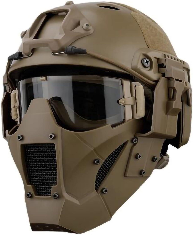 WISEONUS Juego de máscara y gafas tácticas de airsoft para casco y pistola BB Shooting Cs Juego Paintball Máscaras de cara completa