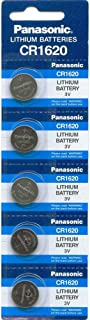 Panasonic CR1620 3V Lithium Battery 1PACK (5PCS) Single Use Batteries