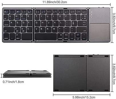 Renaisi Tastatur Mini-dreifach gefaltete Bluetooth-Funktastatur mit Touchpad for Tablet-PC-Telefon Geeignet f r alle Computer Color Schwarz Schätzpreis : 24,04 €