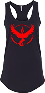 Pokemon Team Valor Red Womens Racerback Tank