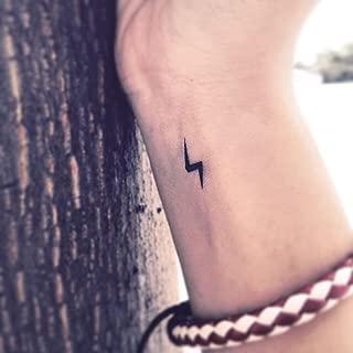Lightning Bolt Temporary Tattoo | Fake Tattoo Sticker (Set of 6) - TOODTATTOO.COM