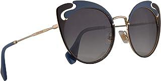 Miu Miu MU57TS Sunglasses Pale Gold Blue Brown w/Grey Gradient 54mm Lens C055D1 MU 57TS SMU 57TS SMU57T