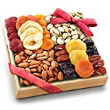 Pacific Coast Classic Dried Fruit Tray Gift with Almonds and Pistachios for Holiday Birthd...