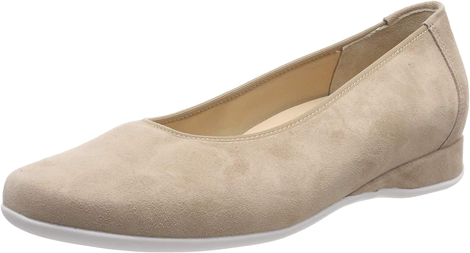 Hassia Women's Ranking NEW TOP8 Closed Toe Ballet Wide UK 0.5 Flats