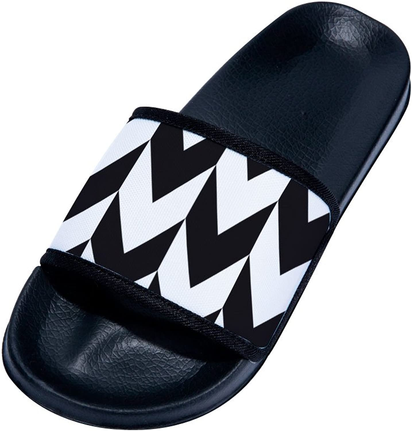 Buteri Black-White Splice Family Quick-Drying Non-Slip Slippers