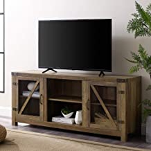 Walker Edison Farmhouse Barn Glass Door Wood Universal TV Stand for TV's up to..