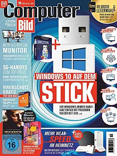 """Computer Bild mit DVD 15/2021 \""""Windows 10 auf dem Stick\"""""""