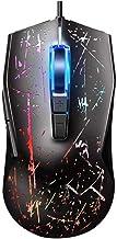 ZLSANVD Ratón con Cable, Profesional 5000 dpi 7-Botones de Alta precisión Programable Juego Ratones for Notebook, PC, Negro