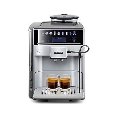 Siemens EQ.6 300 TE613501DE Kaffeevollautomat (1500 Watt, Direktwahl durch Sensorfelder, oneTouch Function, hochwertiges Keramik-Mahlwerk) silber/hellgrau