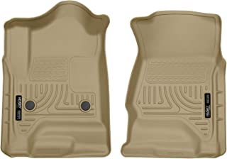 Husky Liners 18233 Tan Weatherbeater Front Floor Liners Fits LD, Chevrolet Silverado, 2014-18, 2015-19 2500/3500, 2019 GMC Sierra 1500