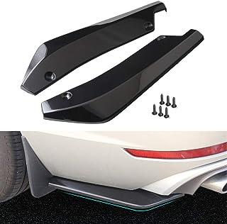 Protector de parachoques trasero para coche, 1 par, universal, para parachoques trasero, alerón, alerón, alerón, difusor de golpes, protector de ángulo divisor Tamaño libre negro