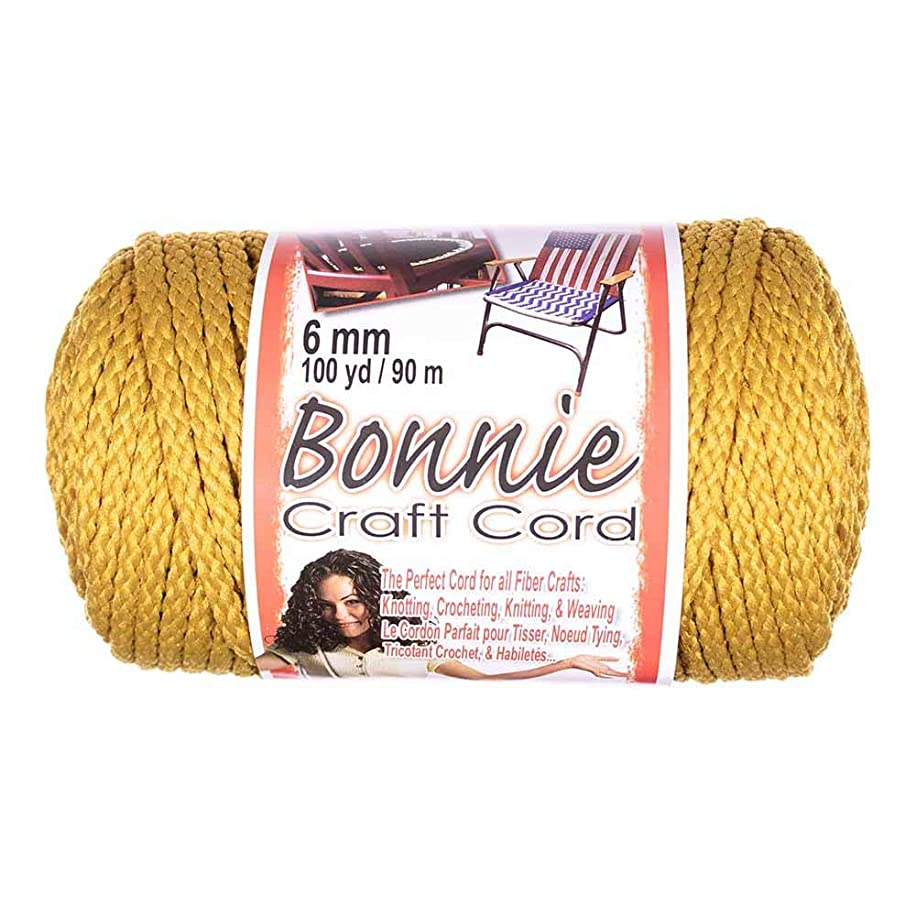 Craft County Bonnie Cord – 6mm Diameter – 100 Yards in Length (Gold)