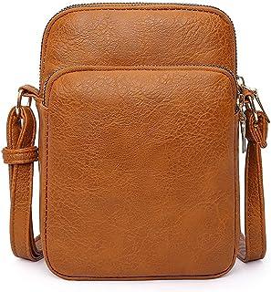 Youlity Damen Schultertasche PU Leder Handy Umhängetasche mit 3 Reißverschluss Beutel Brieftasche Frauen Handtaschen Retro...