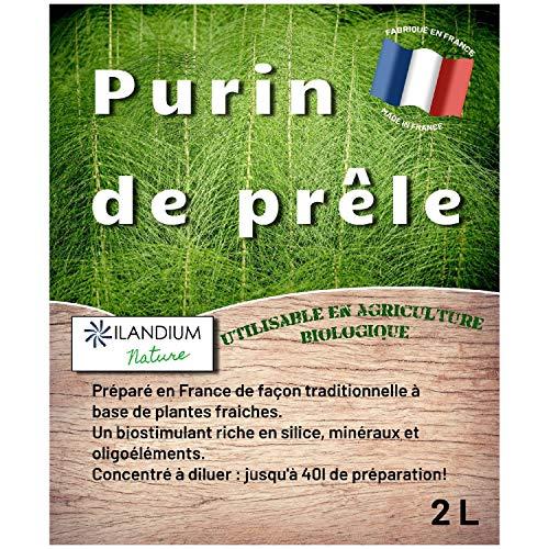 ILANDIUM Purin de prêle 2L | Produit 100% Naturel, Liquide et concentré | Made in France | Jusqu'à 40L de préparation | Biostimulant écologique pour Le Traitement Bio des légumes, Fleurs et fruitiers