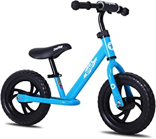 JOYSTAR 12/14 Inch Kids Balance Bike for Boys & Girls 2 3 4 5 Years Old, Push Bike for Toddlers with Footrest & Handlebar Protect Pad, Kids Glider Bike, Blue, Red, Pink