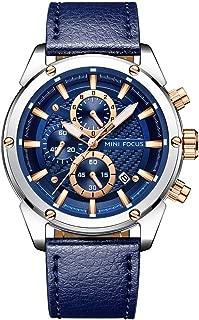 Fashion Watch Men's Sport Waterproof Watch with Leather Strap Calendar Date Watches Business Quartz Wrist Watch for Men