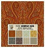 Decoupage Paper Pack Golden Autumn FLONZ Vintage Styled Paper for