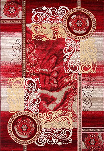 Bidesen Maison Déco Tapis Tapis Soft Fluff 0.8m * 1.5m Matériau Polypropylène Fleurs Rouges
