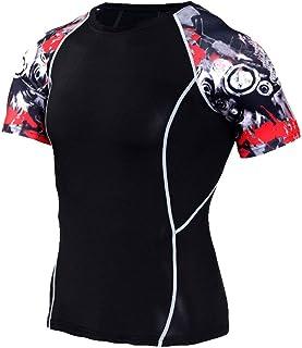 Black Compression Shirt Mens Short Sleeve Sport Tee
