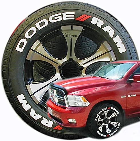 TireStickers Dodge RAM Truck Free shipping Tire Kit Accessory Lettering Easy 5% OFF -