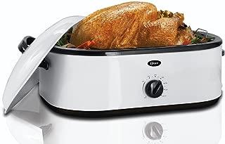 Oster Roaster Oven with Buffet Server, 18 Quart, White (CKSTRS71)