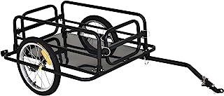 Aosom Folding Bicycle Cargo Trailer Utility Bike Cart Travel Luggage Carrier Garden Patio Tool New