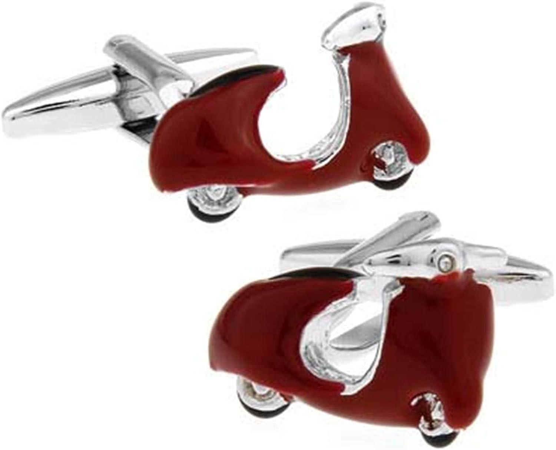 Daesar Cuff Link and Stud Set Cufflinks for Men Vintage Electric Vehicle Cufflinks Box for Men