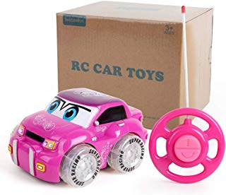 Beebeerun RC Car Toy for Girls   Pink Purple Remote Control 2CH Racer Vehicle for Kids, Toddlers
