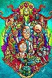 Rick n Morty 5D-Diamant-Gemälde zum Selbermachen, für Erwachsene und Kinder, mit...