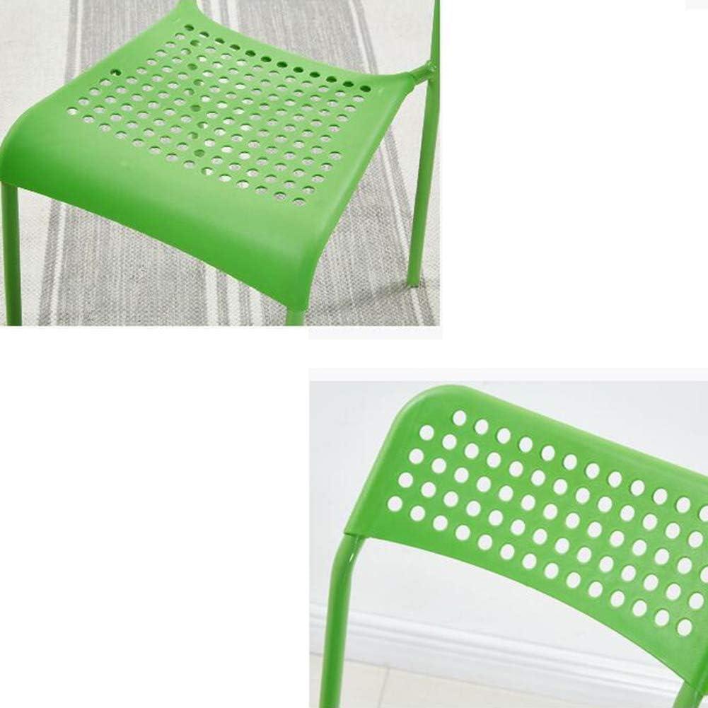 GLJJQMY Chaise de Salle à Manger Moderne avec Dossier Minimaliste en Plastique for la Maison Durable 43X41X83 cm 2 pièces Chaise empilable (Color : Light Blue) Green