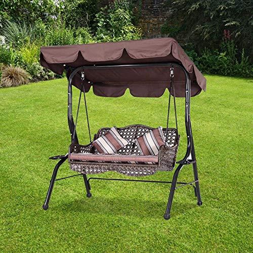 Bicaquu Lichtbeständige wasserdichte Gartenschaukelabdeckung, Anti-UV-Schaukelabdeckung, für Gartenbalkonhaus im Freien(Brown)