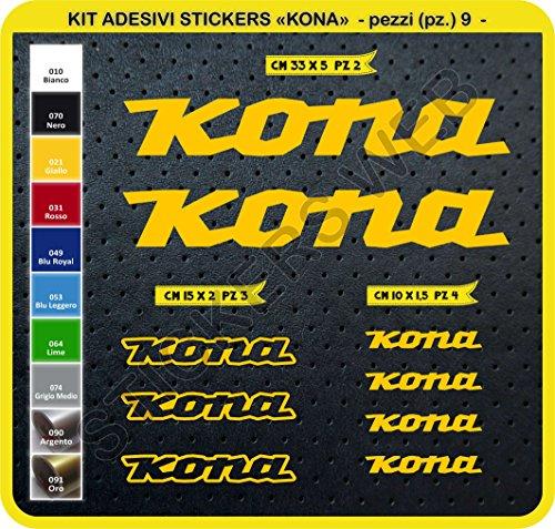 Pimastickerslab stickers voor fietsen Kona Kit Sticker 9 delen -Scegli SUBITO Colore- Bike Cycle Pegatina cod.0101