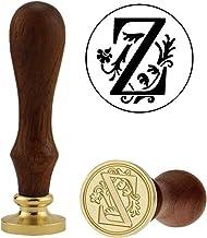 Kwaliteits zegellak Retro 26 Letter A - Z Wax Seal Stempel Alfabet Letter Retro Wood Stamp Kits Vervangen Koper Hoofd Hobb...