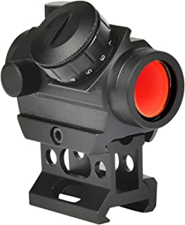 MidTen 2MOA Micro Red Dot Sight 1x25mm Reflex Sight Waterproof & Shockproof & Fog-Proof Red Dot Scope, Mini Rifle Scope with 1 inch Riser Mount, Black